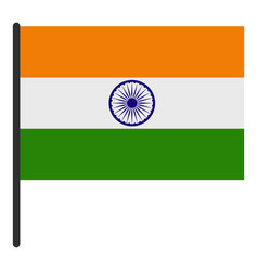 Indian flag icon isolated vector