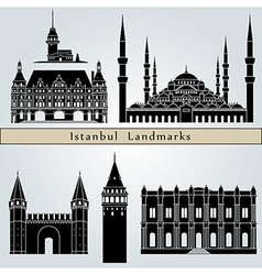 Istanbul landmarks and monuments vector