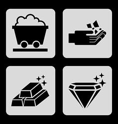mining icons vector image