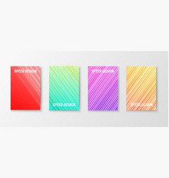 motion design colorful brochures vector image
