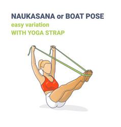 Naukasana navasana or yoga boat pose easy vector