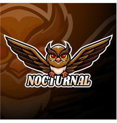 Nocturnal esport logo mascot design vector