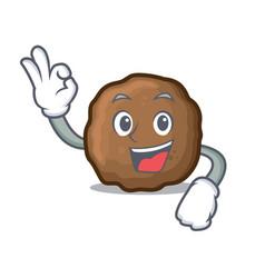 Okay meatball character cartoon style vector