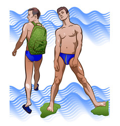 On theme beach sport vector