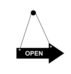 open door sign vector image