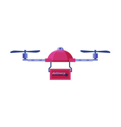 package delivery drone express delivery air vector image
