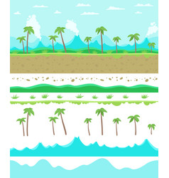 Parallax ready game background layers seamless vector