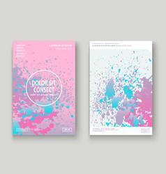 Pastel pink cyan explosion paint splatter vector