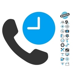 Phone Time Icon With Air Drone Tools Bonus vector
