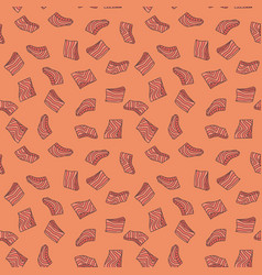 pieces of salmon seamless pattern vector image