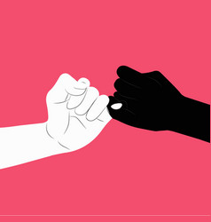 pinky swear vector image