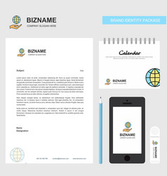 Safe world business letterhead calendar 2019 and vector