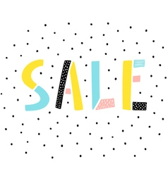 Sale sign on white background vector