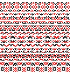 Seamless texture of red black patterns vector