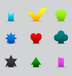 Set of different tabs vector