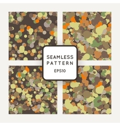 Set of seamless pattern of chaotic spots vector