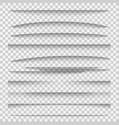 shadow dividers line paper design panel shadow vector image