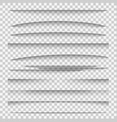 Shadow dividers line paper design panel shadow vector