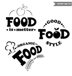 Simple food llogos vector