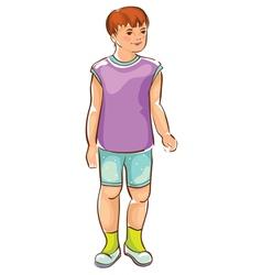 Sketch of boy vector image