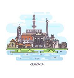 Slovak landmarks or slovakia historical monuments vector