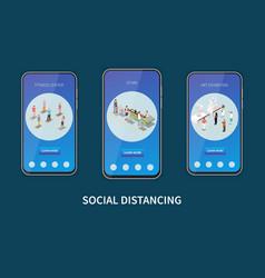 Social distancing vertical banners vector