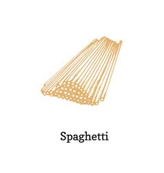 spaghetti in hand vector image