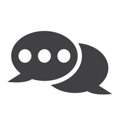 speech bubble solid icon chat and website vector image