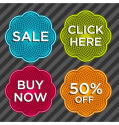 Spirograph Sale Stickers vector image