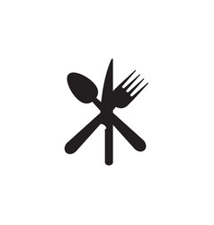 spoon knife fork icon graphic design template vector image