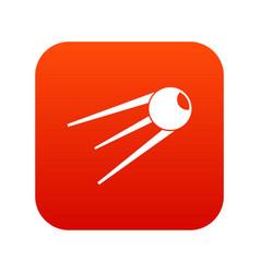 Sputnik icon digital red vector