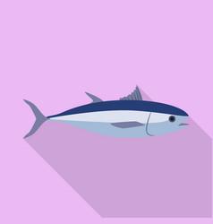 tuna fish icon flat style vector image