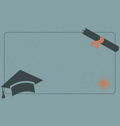 university paper background with graduation cap vector image