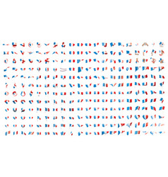 very big collection of flags of the france vector image
