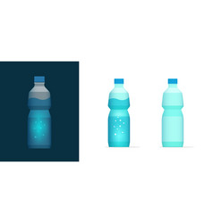 water soda bottle icon clipart full and vector image