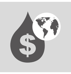 world oil industry consumption price dollar vector image