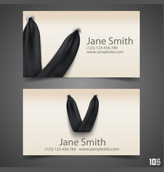 bag with handle business card vector image