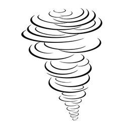 black tornado symbol vector image