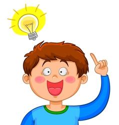 boy with an idea vector image