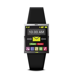communication with smart watch technology vector image