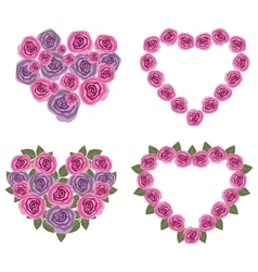 Hearts flower set 02 vector image vector image