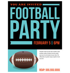 american football party flyer invitation vector image