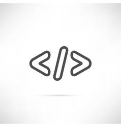 Coding Simple Icon vector image