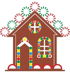 Gingerbread house color 03 vector