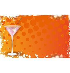 orange martini banner vector image vector image