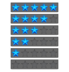 Rating buttons vector image vector image