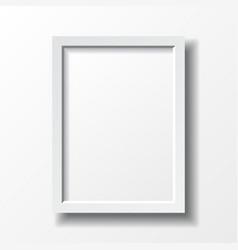 White vertical frame vector image vector image