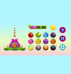 cute assets for game design vector image