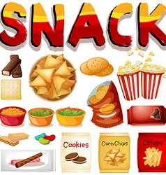 Different kind of snack vector