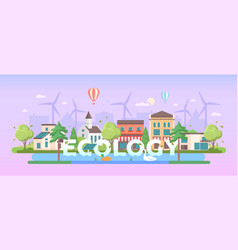 Ecology - modern flat design style vector